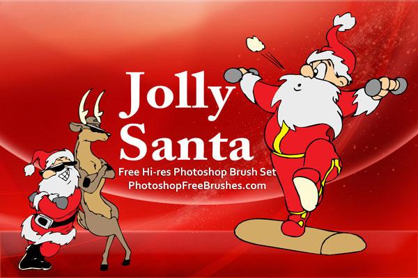 フォトショップ ブラシ 無料 クリスマス サンクロース 聖夜 Photoshop Santa Claus Brush Free abr 15 Santa Pictures: Photoshop CS Brush Set