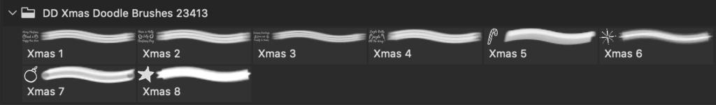 フォトショップ ブラシ 無料 クリスマス ラベル テキスト Photoshop Christmas Label Brush Free abr Sketchy Christmas Label Brushes