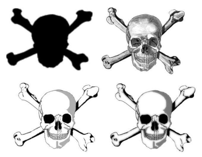 フォトショップ ブラシ Photoshop Skeleton Brush 無料 イラスト スカル 骸骨 ガイコツ スケルトン Skull and Crossbones brushes