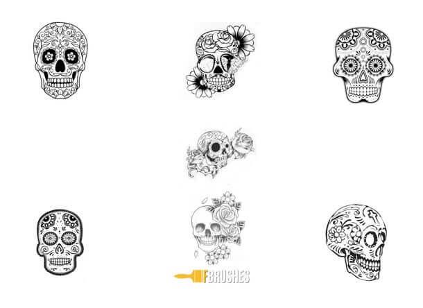 フォトショップ ブラシ Photoshop Skeleton Brush 無料 イラスト スカル 骸骨 ガイコツ スケルトン Skull Delight