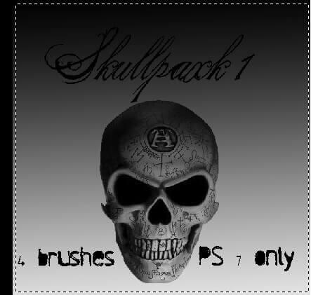 フォトショップ ブラシ Photoshop Skeleton Brush 無料 イラスト スカル 骸骨 ガイコツ スケルトン skulls1