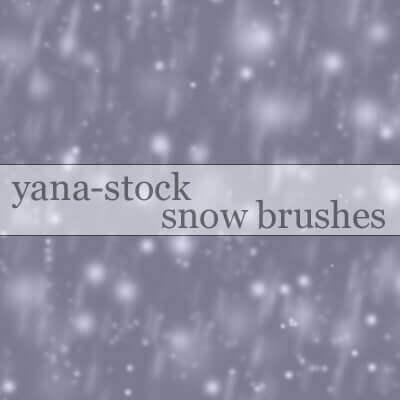フォトショップ ブラシ Photoshop Snow Brush 無料 イラスト 雪 スノー Snow Brushes