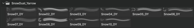 フォトショップ ブラシ Photoshop Snow Brush 無料 イラスト 雪 スノー Snow Dust Brushes