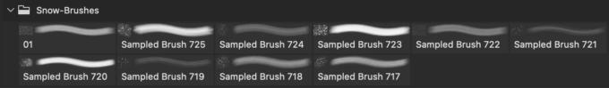 フォトショップ ブラシ Photoshop Snow Brush 無料 イラスト 雪 スノー  10 Free Snow Photoshop Brushes