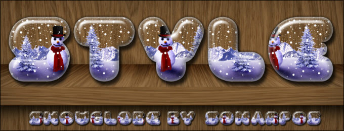 Photoshop Christmas Text Effect Xmas フォトショップ クリスマス テキストエフェクト snowglobe style