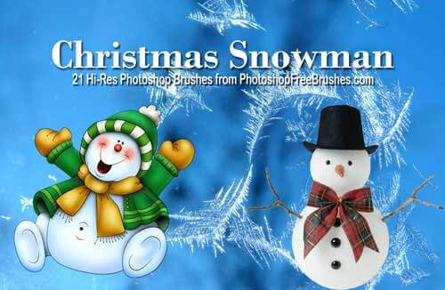 フォトショップ ブラシ 無料 クリスマス 雪だるま 聖夜 Photoshop Christmas Brush Free abr 21 Free Snowman Clip Art Photoshop Brushes
