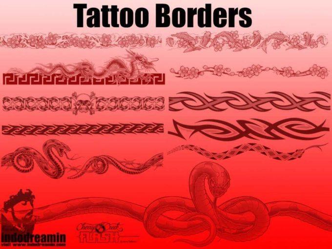 フォトショップ ブラシ Photoshop Tattoo Brush Free abr 無料 イラスト タトゥー 模様 柄 刺青 蝶 バタフライ Tattoo Borders