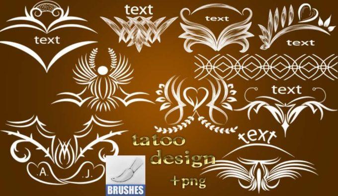 フォトショップ ブラシ Photoshop Tattoo Brush Free abr 無料 イラスト タトゥー 模様 柄 刺青 tattoo design