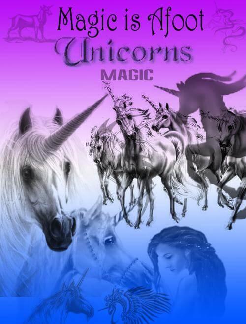 フォトショップ ブラシ Photoshop Unicorn Brush 無料 イラスト ユニコーン PS Unicorn Brushes
