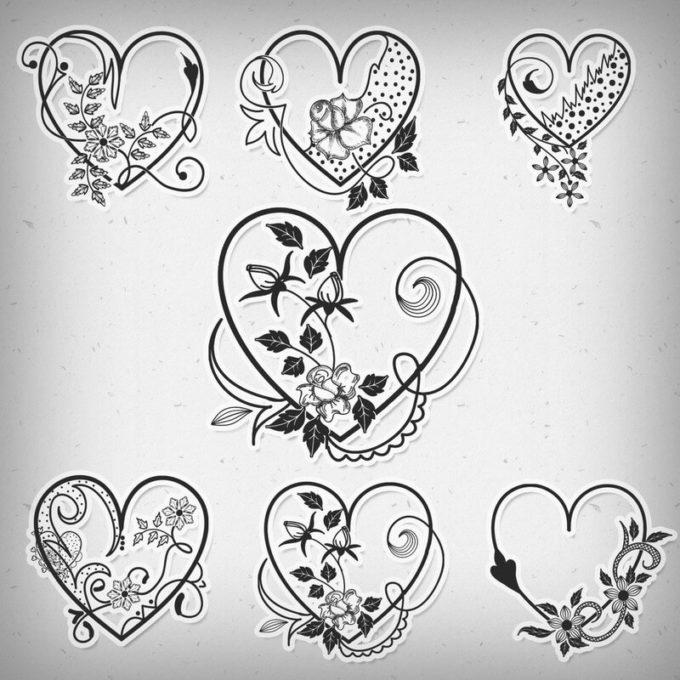 フォトショップ ブラシ 無料 ハート Photoshop Heart Brush Free abr Valentine Heart Brushes
