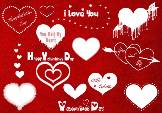 フォトショップ ブラシ 無料 ハート Photoshop Heart Brush Free abr Valentines Day Brushes