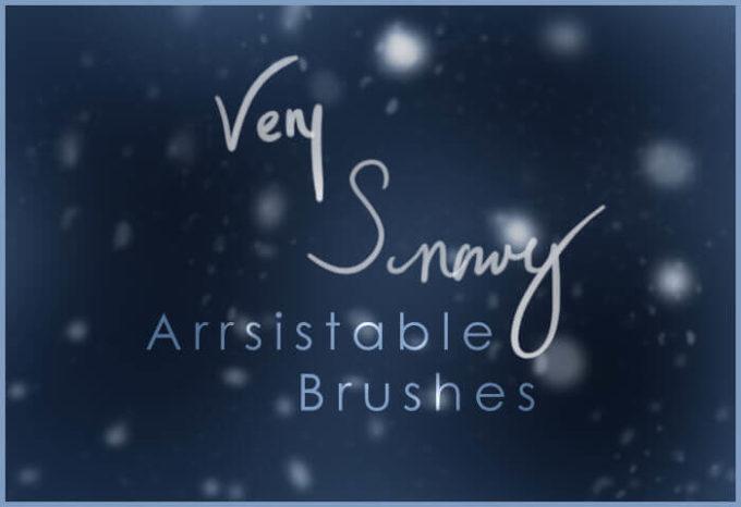 フォトショップ ブラシ Photoshop Snow Brush 無料 イラスト 雪 スノー Very Snowy Brushes