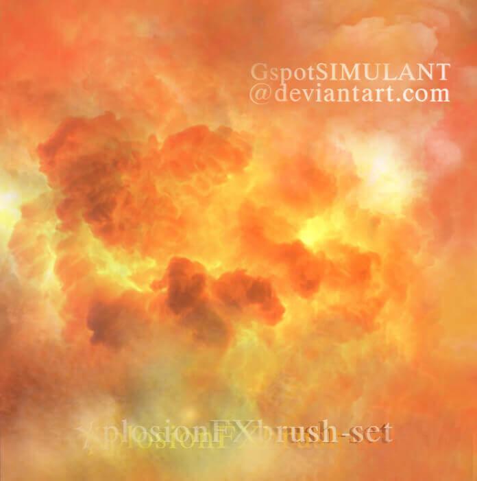 フォトショップ ブラシ Photoshop Fire Brush 無料 イラスト 火 炎 ファイヤー xplosion brush set