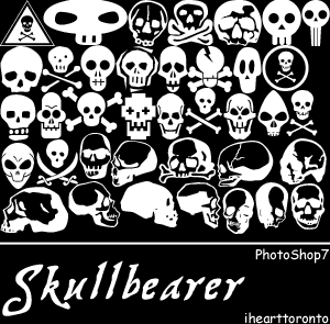 フォトショップ ブラシ Photoshop Skeleton Brush 無料 イラスト スカル 骸骨 ガイコツ スケルトン PS7-Skullbearer brushes