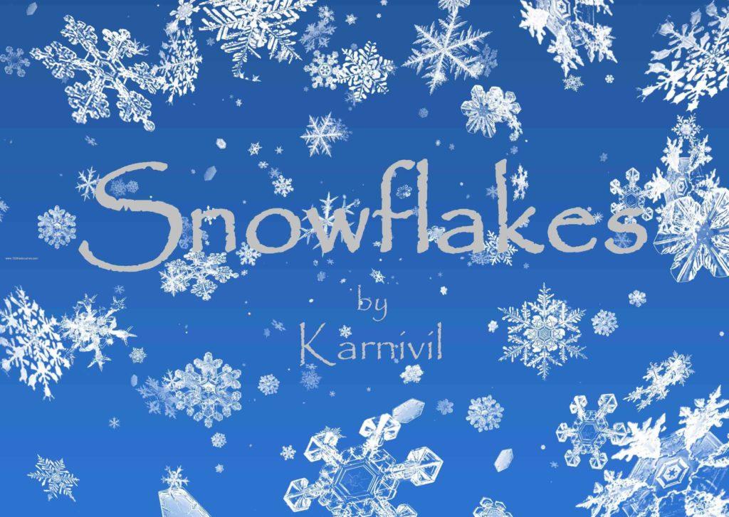 フォトショップ ブラシ Photoshop Brush 無料 イラスト クリスマス 聖夜 冬 雪 スノーフレーク 結晶 Realistic Snowflakes