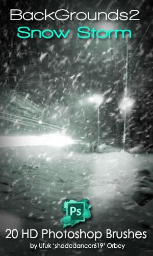 フォトショップ ブラシ Photoshop Snow Brush 無料 イラスト 雪 スノー Snowstorm