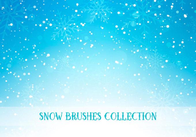 フォトショップ ブラシ Photoshop Snow Brush 無料 イラスト 雪 スノー  Snow Brushes Collection