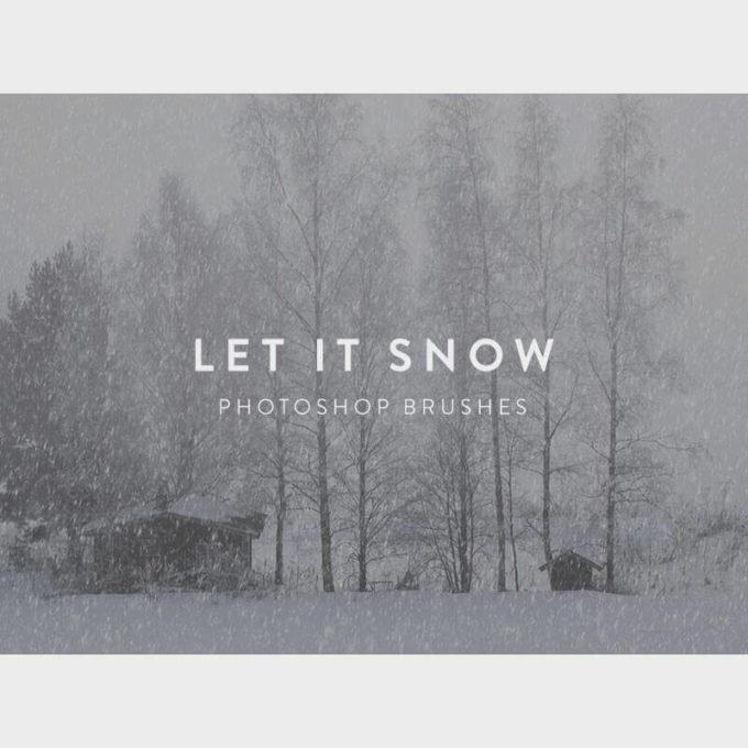 フォトショップ ブラシ Photoshop Snow Brush 無料 イラスト 雪 スノー  Let It Snow Free Photoshop Brushes
