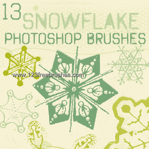 フォトショップ ブラシ Photoshop Brush 無料 イラスト クリスマス 聖夜 冬 雪 スノーフレーク 結晶 Snowflake