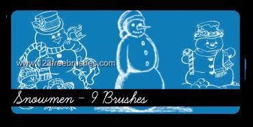 フォトショップ ブラシ 無料 クリスマス 雪だるま 聖夜 Photoshop Christmas Brush Free abr Snowman