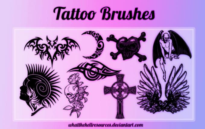 フォトショップ ブラシ Photoshop Tattoo Brush Free abr 無料 イラスト タトゥー 模様 柄 刺青 Tattoo Brushes