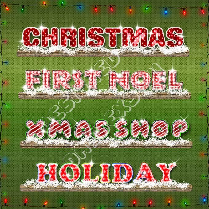 Photoshop Christmas Layer Style フォトショップ クリスマス レイヤースタイル Xmas Pshop Style by dabbexsahi