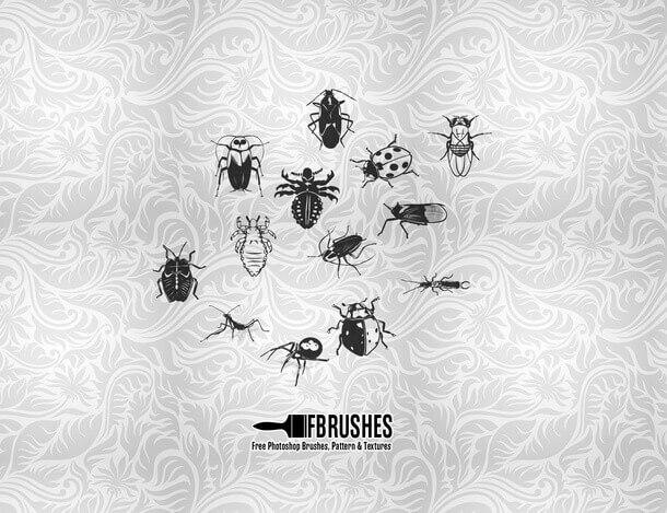 フォトショップ ブラシ Photoshop Bug Insect Brush 無料 イラスト 虫 ムシ 昆虫 Bugs