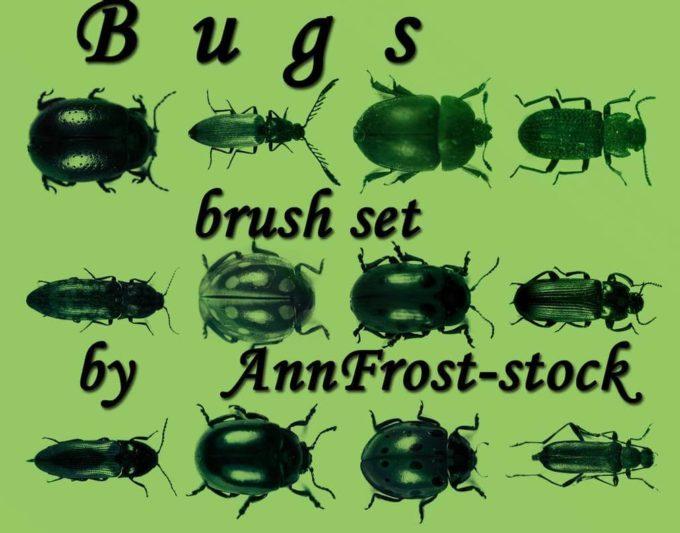 フォトショップ ブラシ Photoshop Bug Insect Brush 無料 イラスト 虫 ムシ 昆虫 Bugs brush set