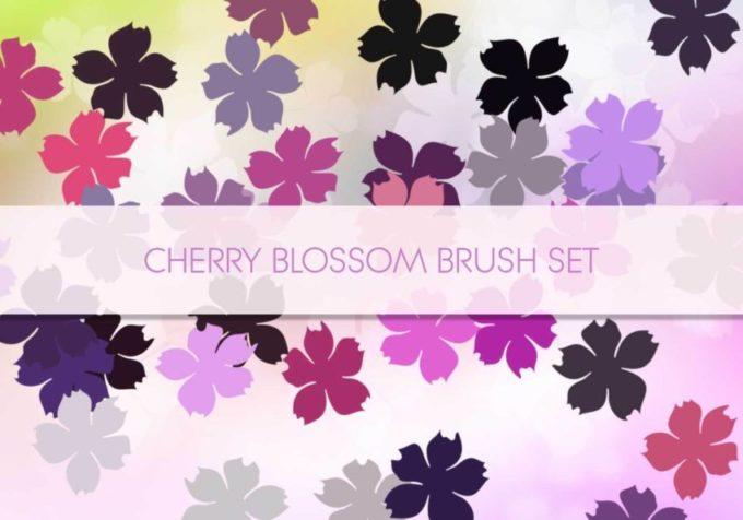 フォトショップ ブラシ Photoshop Cherry Blossoms Brush 無料 イラスト 桜 サクラ チェリーブロッサム Cherry Blossom 1