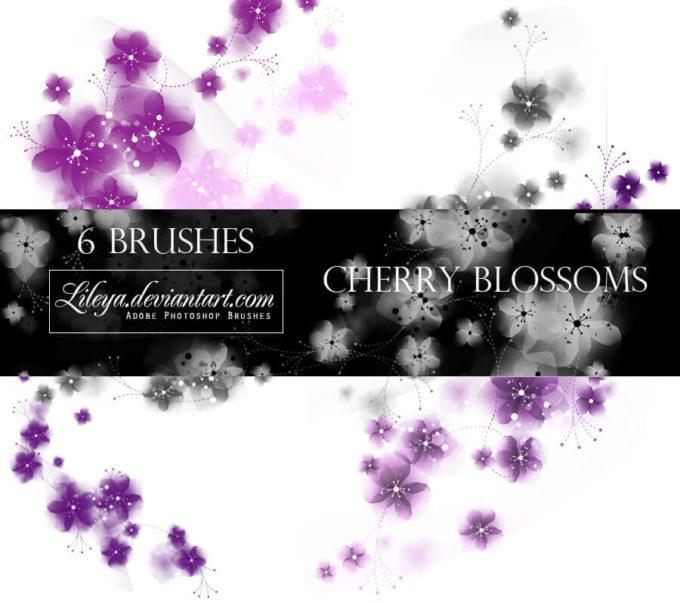 フォトショップ ブラシ Photoshop Cherry Blossoms Brush 無料 イラスト 桜 サクラ チェリーブロッサム Cherry blossoms PS brushes