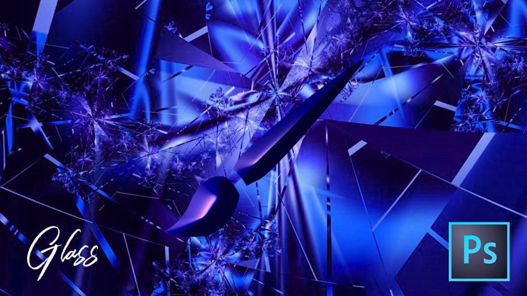 フォトショップ ブラシ Photoshop Glass Crystal Brush 無料 イラスト ガラス クリスタル