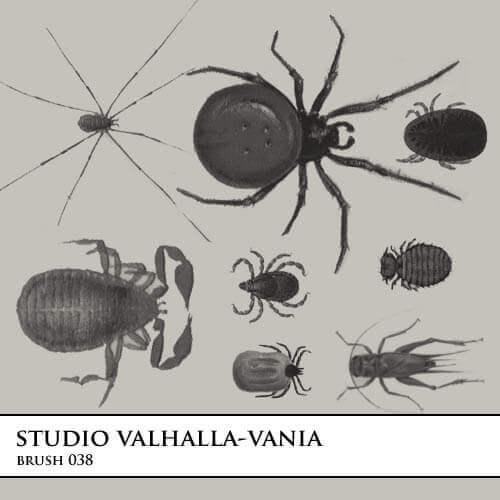 フォトショップ ブラシ Photoshop Bug Insect Brush 無料 イラスト 虫 ムシ 昆虫 brush.038
