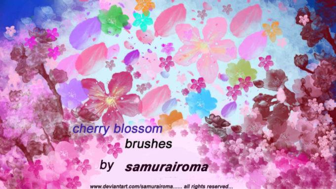 フォトショップ ブラシ Photoshop Cherry Blossoms Brush 無料 イラスト 桜 サクラ チェリーブロッサム Cherry Blossom Tree | Brushes