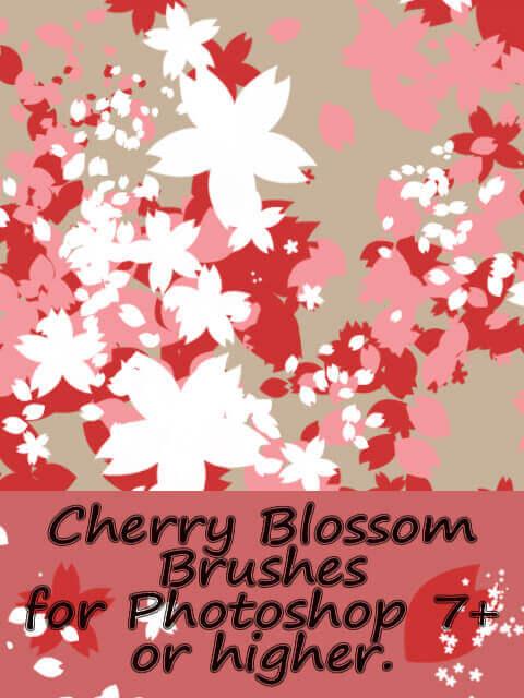 フォトショップ ブラシ Photoshop Cherry Blossoms Brush 無料 イラスト 桜 サクラ チェリーブロッサム Cherry Blossom brushes