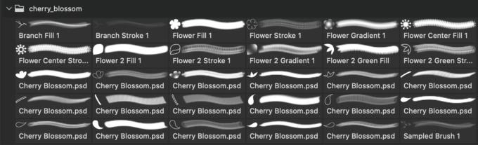 フォトショップ ブラシ Photoshop Cherry Blossoms Brush 無料 イラスト 桜 サクラ チェリーブロッサム Cherry Blossom