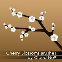 フォトショップ ブラシ Photoshop Cherry Blossoms Brush 無料 イラスト 桜 サクラ チェリーブロッサム Cherry Blossoms Brushes