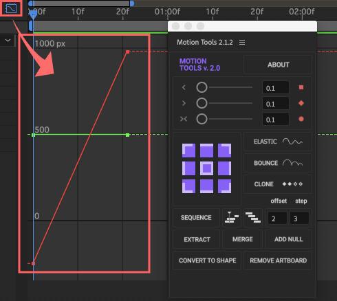 After Effects Motion Tools アニメーション イージングスライダー 使い方 グラフエディター キーフレーム