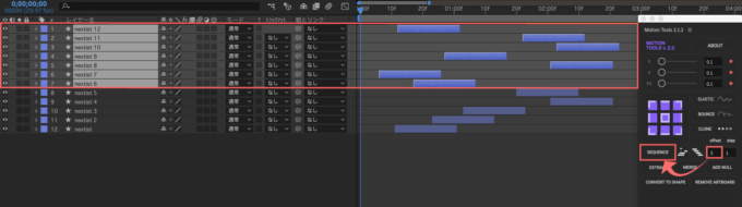 After Effects Motion Tools SEQUENCE offset