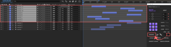 After Effects Motion Tools SEQUENCE step