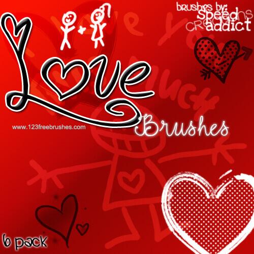 フォトショップ ブラシ Photoshop Cherry Blossoms Brush 無料 イラスト バレンタイン love photoshop brushes