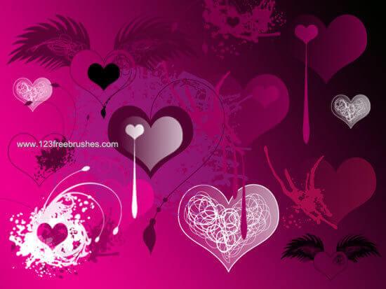 フォトショップ ブラシ Photoshop Cherry Blossoms Brush 無料 イラスト バレンタイン Valentine Love Heart