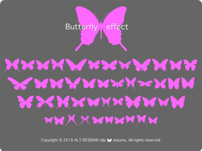 Free Font 無料 フリー フォント 追加 Butterfly effect