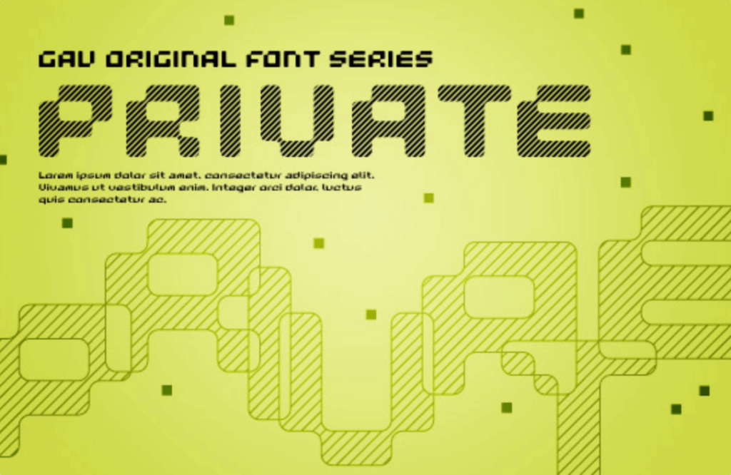 Free Font 無料 フリー かっこいい デジタル フォント 追加  PRIVATE