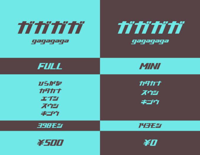 Free Font pop 無料 フリー フォント ポップ かっこいい 追加 ガガガガ