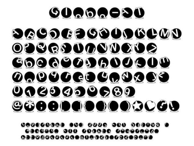 Free Font 無料 フリー フォント 追加 Globo