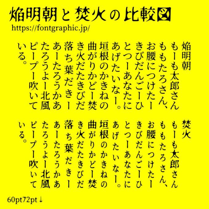 Free Font 無料 フリー フォント 追加 ホラー 怖い 焔明朝体 サンプル