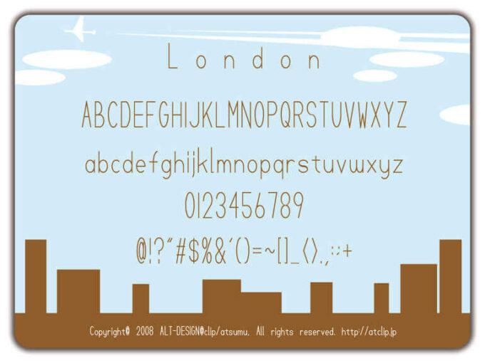 Free Font 無料 フリー フォント 追加 細い london