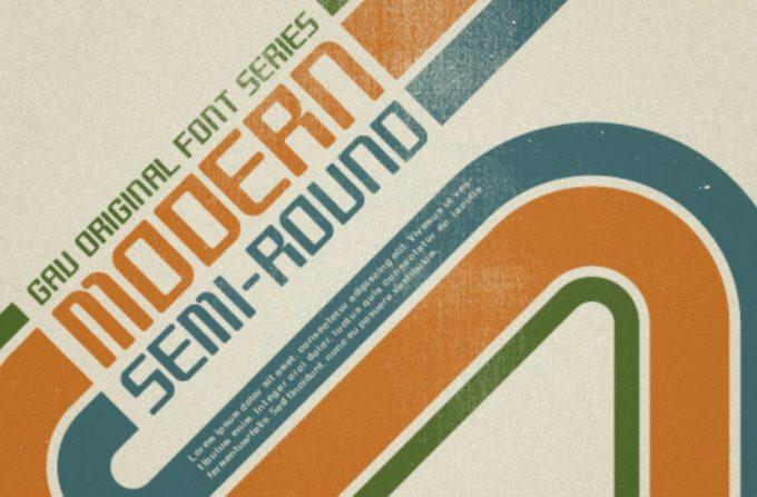 Free Font 無料 フリー レトロ ビンテージ フォント 追加  Modern Semi-Round