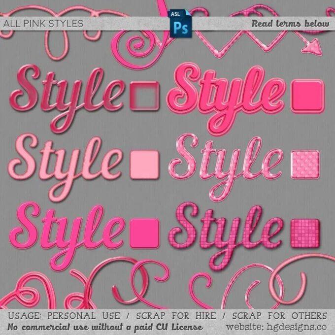 フォトショップ レイヤースタイル Photoshop Heart Layer Style asl ハート バレンタイン pink photoshop layer styles