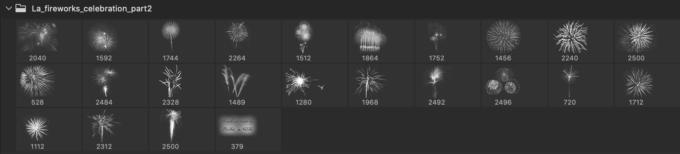 フォトショップ ブラシ Photoshop Brush 無料 イラスト 光 ビーム グリッター スパーク パーティクル 花火 Fireworks celebration part2